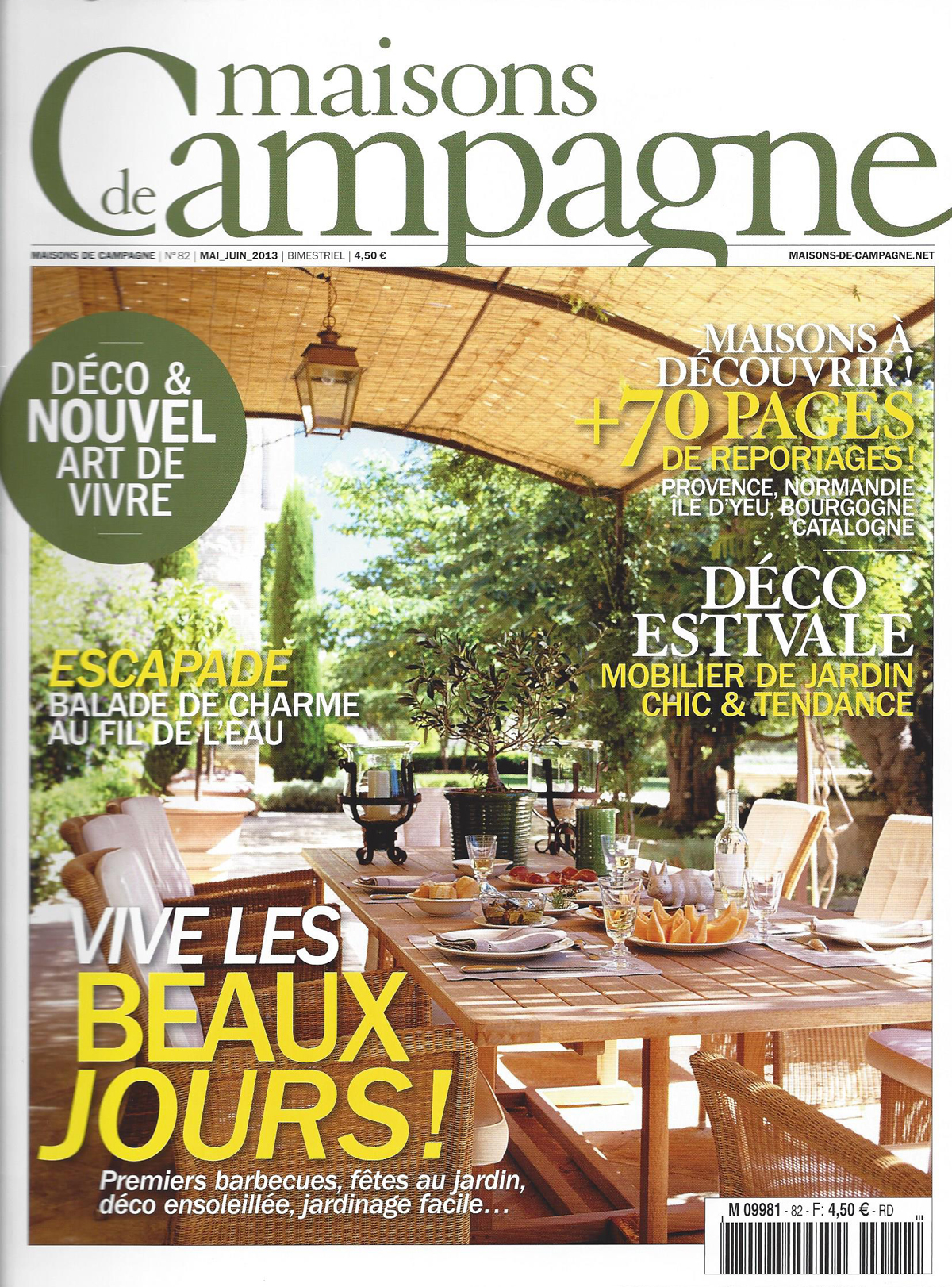 Maison de campagne magazine great maison revue campagne n for Le journal de la maison abonnement
